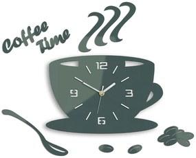 Mazur Nástěnné hodiny Coffee šedé