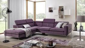 Luxusná sedacia súprava Ardenza Roh: Orientace rohu Levý roh, STG: Potah Režná látka Inari 65 fialová