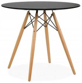 Bestent Okrúhly stôl ANELLO Black 80 cm