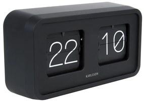 KARLSSON Stolné hodiny Bold Flip matné čierne