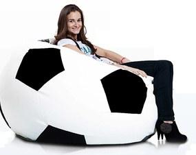Sedací vak Sport XXXL - Bielo-čierny E01/E14