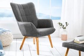 Dizajnové kreslo Sweden, sivé
