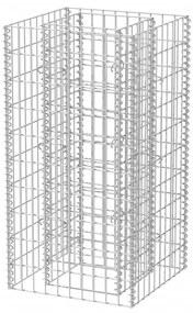 Oceľový gabiónový kvetináč, 50x50x100 cm