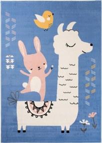 Detský kusový koberec PP Lama modrý, Velikosti 120x170cm