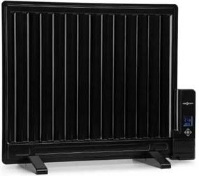 OneConcept Wallander, olejový radiátor, 600 W, termostat, olejové vyhrievanie, plochý dizajn, čierny