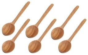 ČistéDrevo Drevené lyžice 17 cm - 6 ks v balení