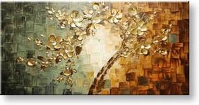 Ručne maľovaný obraz na stenu STROMY FB203E1