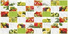 Obkladové 3D PVC panely rozmer 960 x 480 mm ovocie a zelenina - POSLEDNÉ KUSY