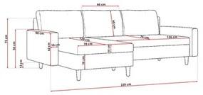 Rohová rozkladacia sedacia súprava ETNA
