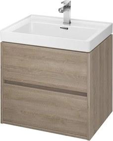 CERSANIT - skrinka s umývadlom 60cm, dub , Cersanit Crea, S924-008+K114-006