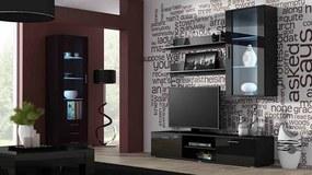 CAMA MEBLE Obývacia stena SOHO 6 Farba: čierna
