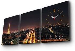 Nástenné obrazové hodiny Paríž, 96 × 40 cm