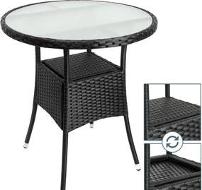 Ratanový stolík D5691 čierna Dekorhome