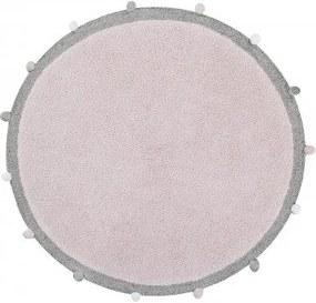 lovel.sk Okrúhly koberec Bubbly Soft Pink