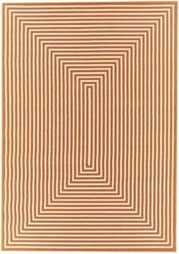 Oranžový vysokoodolný koberec vhodný do exteriéru Floorita Braid, 133 × 190 cm