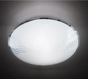 Trio NORA 602100200 Lampy UFO matný nikel biely excl. 2 x E27, max. 40W H:8,5cm, D:30cm,