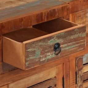 vidaXL Kredenc, masívne recyklované drevo, 150x35x75 cm