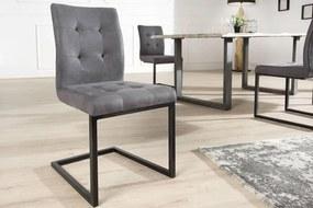 Jedálenská stolička vintage English šedá