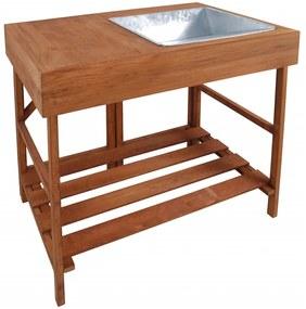 Esschert Design Záhradný stolík, tvrdé drevo, GT35