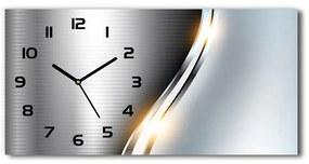 Sklenené hodiny na stenu Kokova abstrakcie pl_zsp_60x30_s_97731386