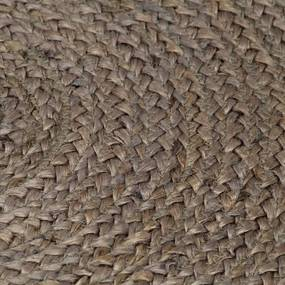 vidaXL Ručne vyrobený koberec sivý 90 cm jutový okrúhly