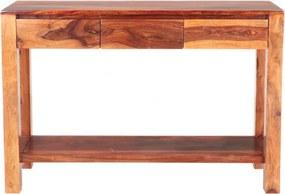 Konzolový stolík Gani 110x35x76 indický masív palisander Only stain