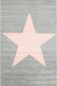 Detský kusový koberec Hviezda šedý, Velikosti 120x170cm