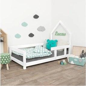 Biela drevená detská posteľ Benlemi Poppi, 90 x 180 cm