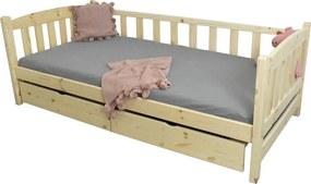 FA Oľga 2 200x90 detské postele so zábranou Farba: Zelená (+30 Eur), Variant rošt: Bez roštu (-10 Eur)