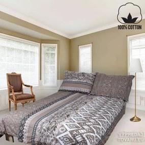 ALORA 140 x 200 cm hnedá bavlnené obliečky