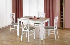 Rozkladací jedálenský stôl H386, sonoma / biela