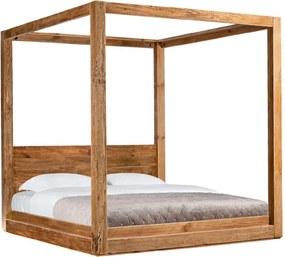 Posteľ 180x200 GAIA, drevená, Baldachýn