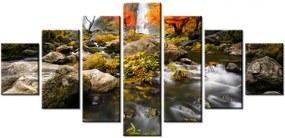 Tlačený obraz Jesenný vodopád 210x100cm 2335A_7A