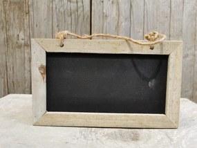 drevená tabuľka na zavesenie písanie s kriedou 12x20cm