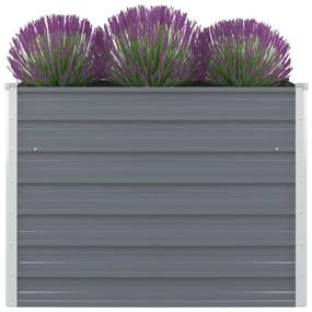 Vyvýšený záhradný kvetináč, 100x100x77 cm, pozinkovaná oceľ, šedá