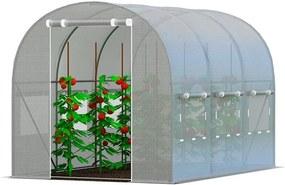 Bestent Záhradný fóliovník BIELY 2,5x4m s UV filtrom PREMIUM