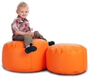 Sedací vak INTERMEDIC Classic S - E04 - Oranžová pomaranč (ekokoža)