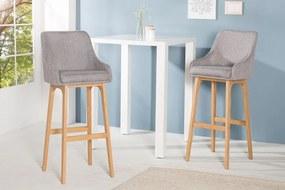 Barová stolička Scandinavia Struktur šedá