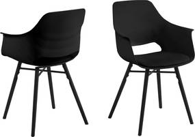 Bighome - Jedálenská stolička s opierkami RAMONA, čierna