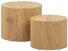 MICE set 2 konferenčných stolíkov Hnedá