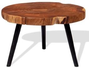 vidaXL Konferenčný stolík v tvare kmeňa, masívne akáciové drevo (55-60)x40 cm