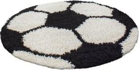 Ayyildiz koberce Kusový koberec Fun 6001 black - 120x120 (průměr) kruh cm
