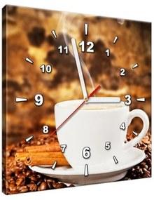 Obraz s hodinami Vôňa kávy 30x30cm ZP2410A_1AI