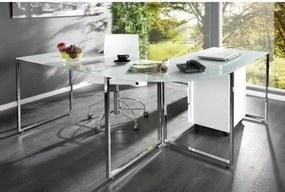 PC - rohový - stôl 19789 Mliečne sklo-Komfort-nábytok