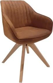 Jedálenská stolička Viborg, camel vintage látka