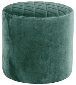 Zelený puf zo zamatu House Nordic Ejby, ø 34 cm