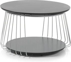Sconto Prístavný stolík VENUTO čierna, 70 cm
