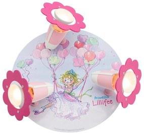 Stropné svietidlo Princezná Lillifee rondel 3-pl.