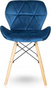 Jedálenská stolička SKY modrá