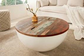 Okrúhly konferenčný stolík Jacktar, 70 cm, biely